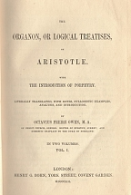 The Organon, or logical treatises, of Aristotle. With the introduction of Porphyry (volume I)
